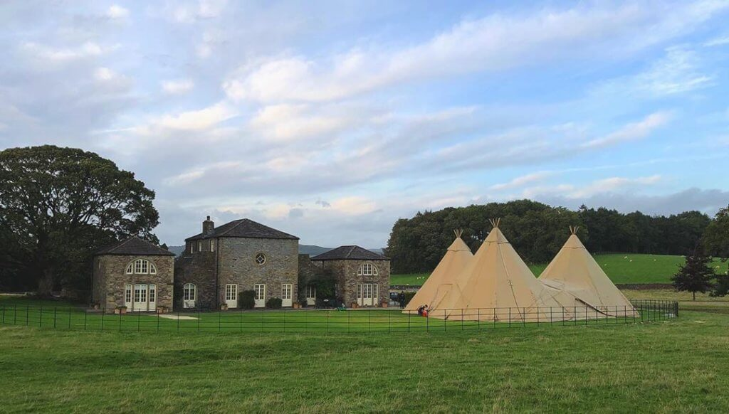 Jamie & Annie's Wedding - A Dale to Remember! Wedding Reception at Stately Home with Tipis